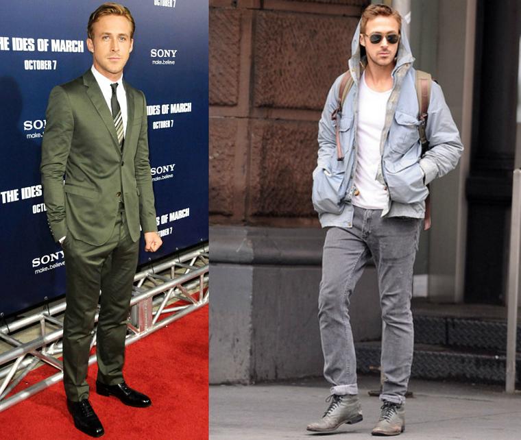 Idea abbigliamento uomo casual di Ryan Gosling, sportivo ed elegante