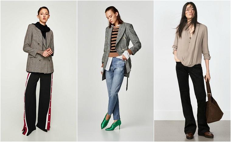 Tre proposte di abbigliamento donna stile casual, abbinamento colori vestiti