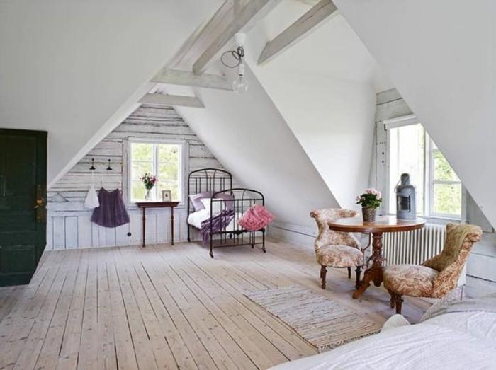 Come arredare una piccola mansarda, arredamento salotto con mobili stile rustico