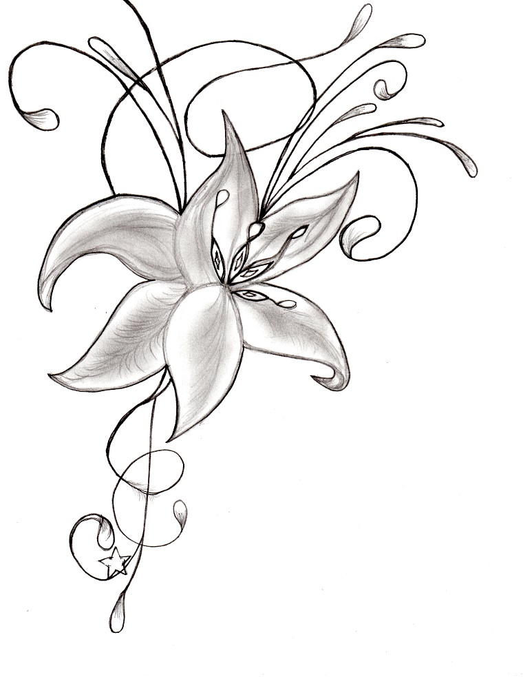 Wedding Flower Line Drawing : Idee per disegni facili da fare e copiare