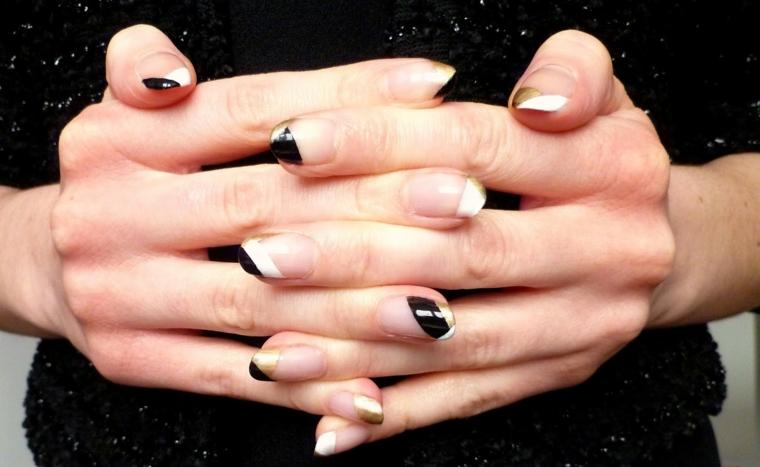 Manicure donna forma a mandorla, abbinamenti colori per unghie estive