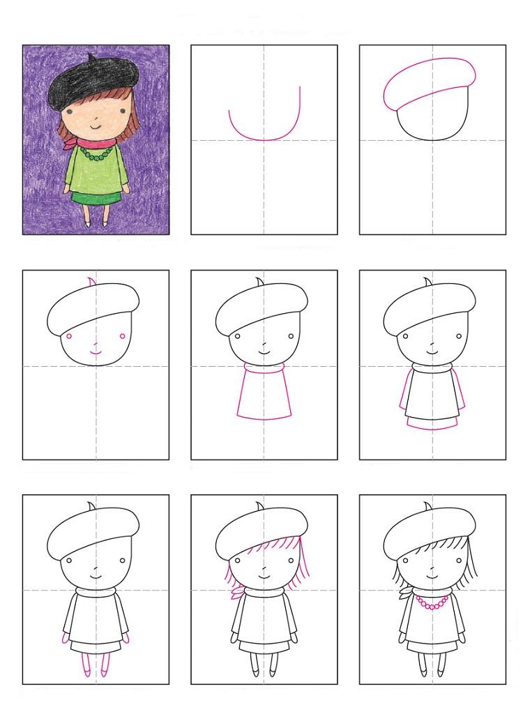 Disegni facili per bambini con tutorial in diagramma, passo per passo la realizzazione