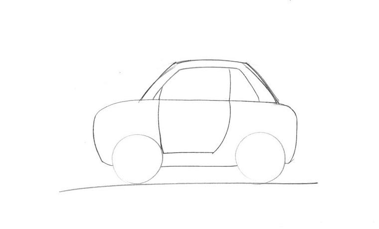 Tutorial semplice per disegnare una macchina, passo due per la realizzazione