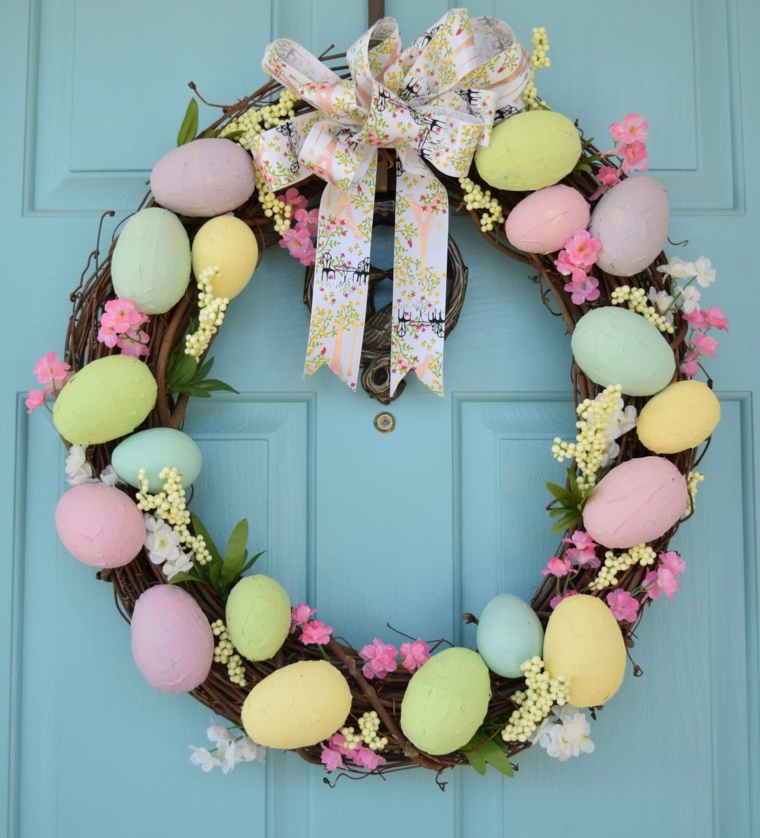 1001 idee per uova di pasqua decorate in diverse tecniche - Decorare una porta ...