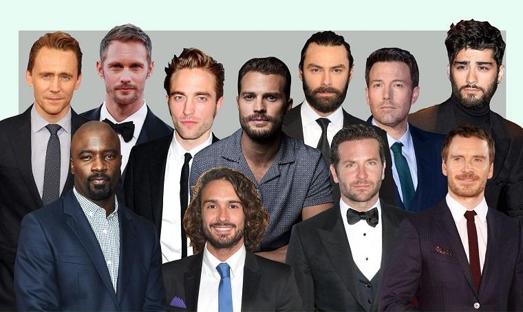 La foto degli uomini affascinanti, cantanti e attori di tutto il mondo, foto collage