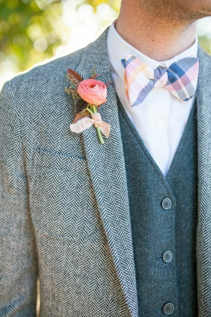 un'immagine che mostra alcuni dettagli di un abito da sposo