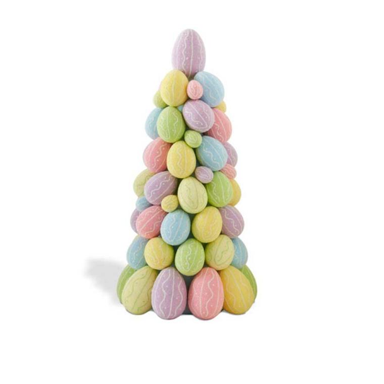 una proposta colorata e creativa da realizzare fai da te per gli addobbi di pasqua: un albero con le uova