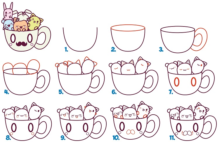 step by step drawing - HD2500×1690