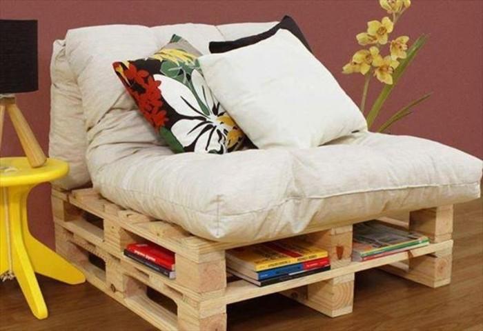 1001 idee per pallet divano 60 idee da copiare - Divano in legno fai da te ...