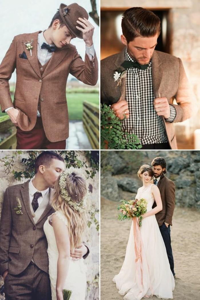 una proposta per l'abito matrimonio uomo dai toni caldi e dal taglio elegante