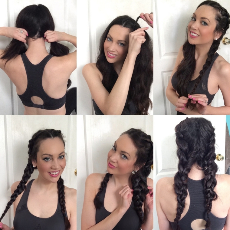 passo dopo passo ecco come realizzare dei capelli raccolti con le trecce