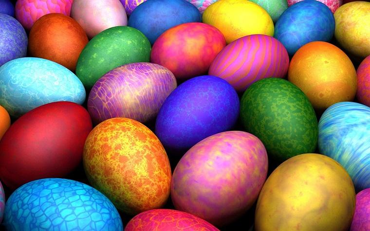 Uova cotte e colorate con tanti colori, lavoretti di pasqua per bambini