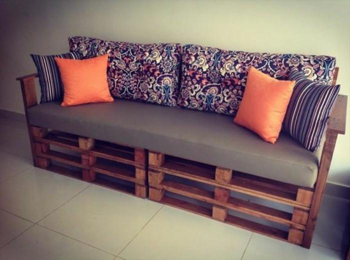 1001 idee per pallet divano 60 idee da copiare - Cuscini schienale divano ...