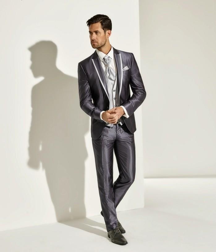 da pointmariage, un abito matrimonio uomo molto elegante, in un tessuto prezioso