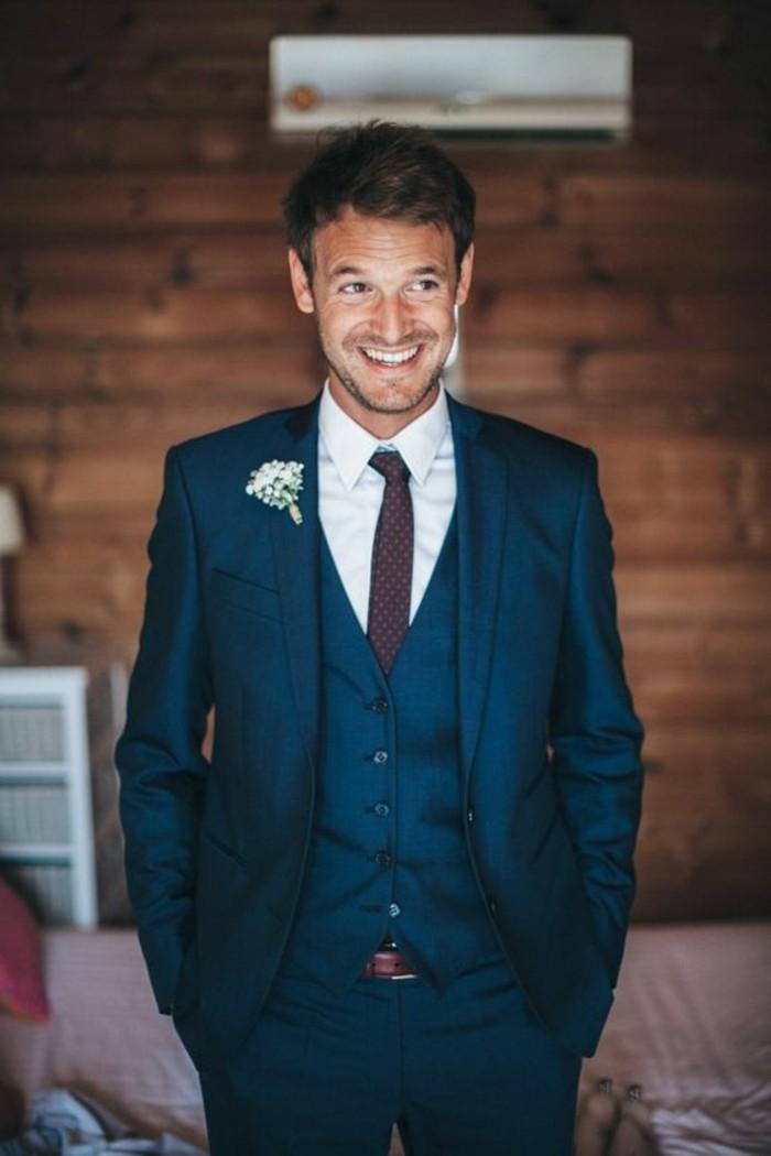 Abito Matrimonio Uomo Blu : Idee per abiti da cerimonia uomo all insegna dell