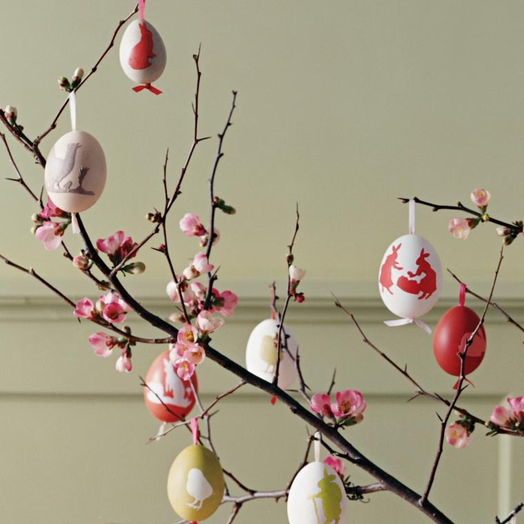 1001 idee per realizzare un albero di pasqua fai da te originale - Fai da te pasqua decorazioni ...