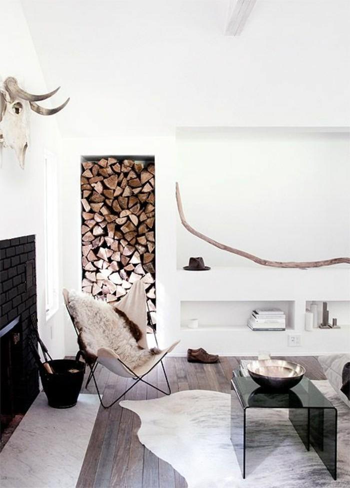 Stile rustico moderno per l'arredamento di un soggiorno con mobili particolari