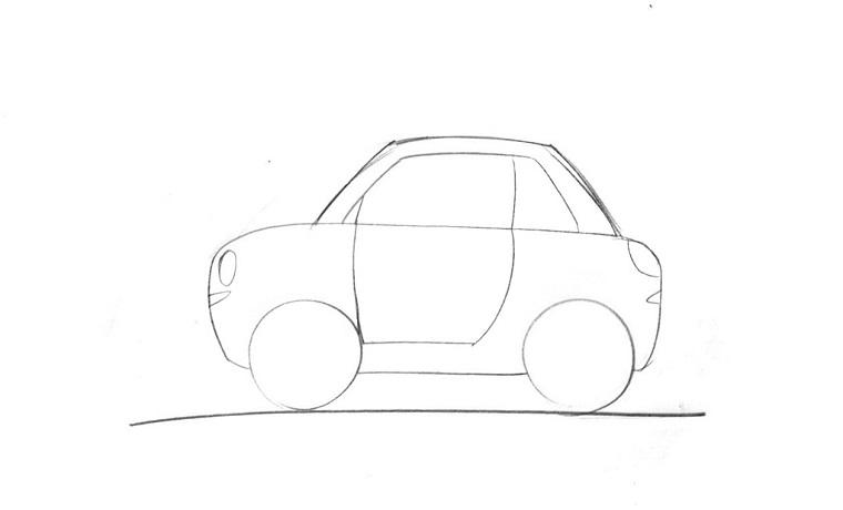 Come disegnare una macchina, disegni facili da copiare per bambini