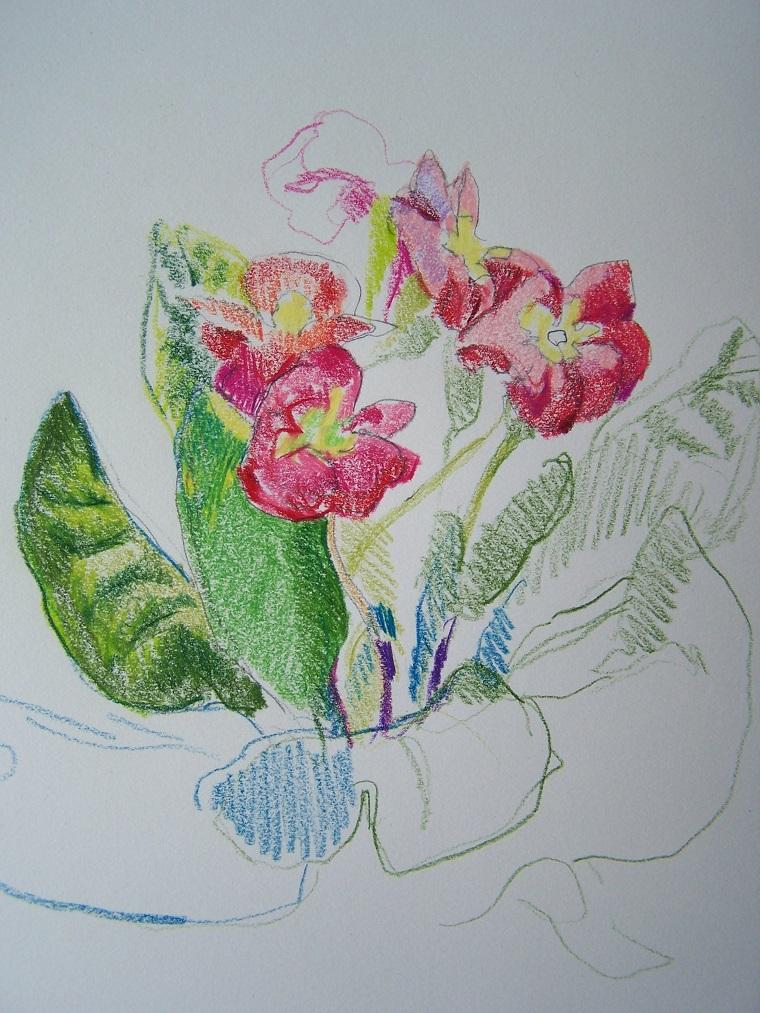 Disegni di fiori a matita home visualizza idee immagine for Disegni facili da copiare