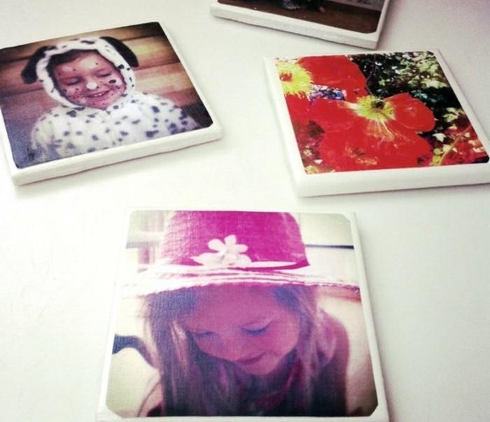 Idee regalo fai da te, fotografie di bambini stampate, soluzione regalo originale