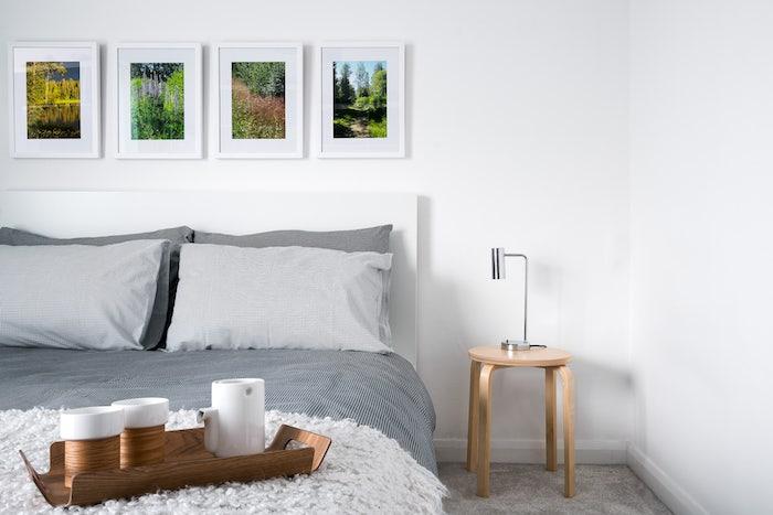 1001 idee per colori da abbinare al grigio consigli utili - Camera da letto decorazioni murali ...