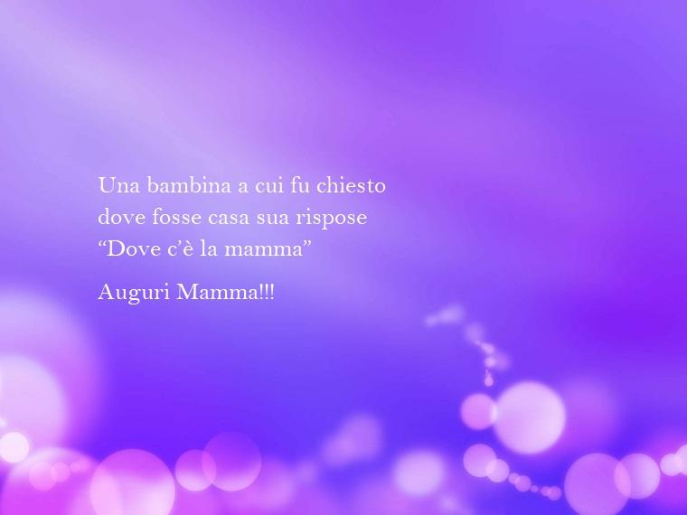 Idea per le frasi festa della mamma, immagine con sfondo viola e bolle trasparenti