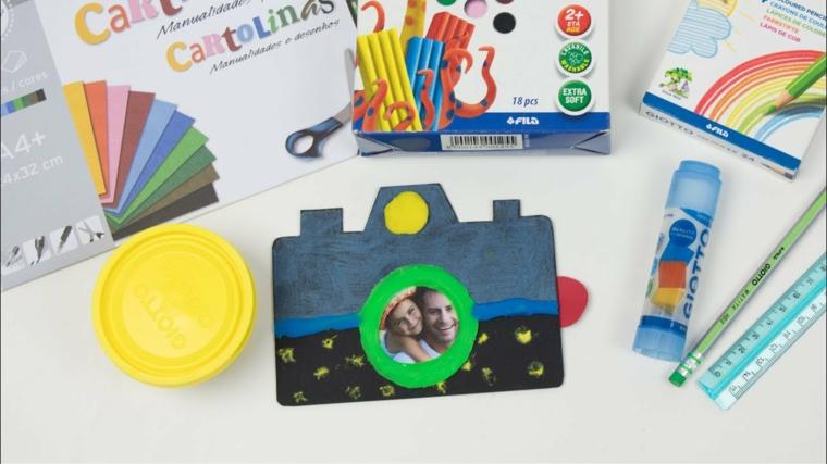 biglietto festa del papà cartolina di carta a forma di macchina fotografica