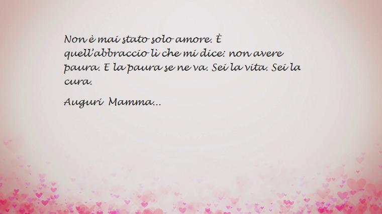 Idea frasi festa della mamma, auguri alle mamme con una dedica, immagine con sfondo rosa e cuoricini