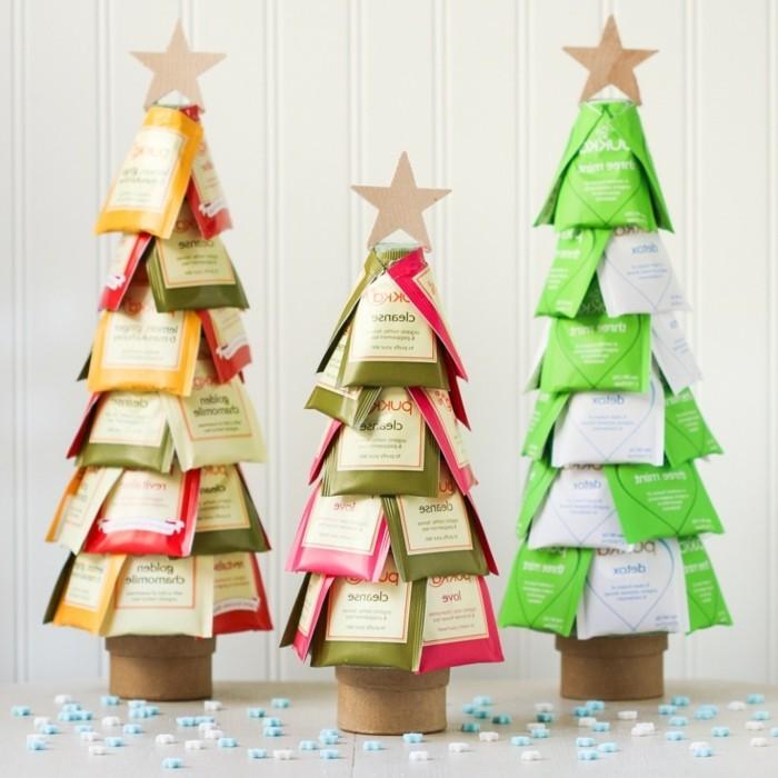 Albero di Natale con le bustine di the, idee fai da te, idea regalo natalizio
