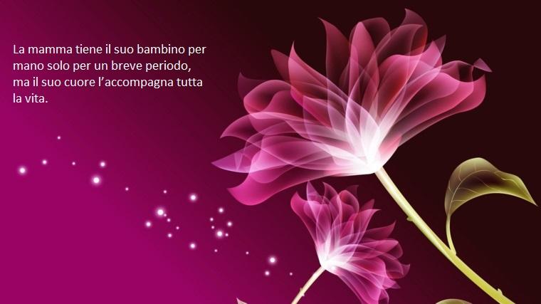 Esempio frasi sulla mamma, dedica per la festa, immagine con scritta e sfondo di colore viola