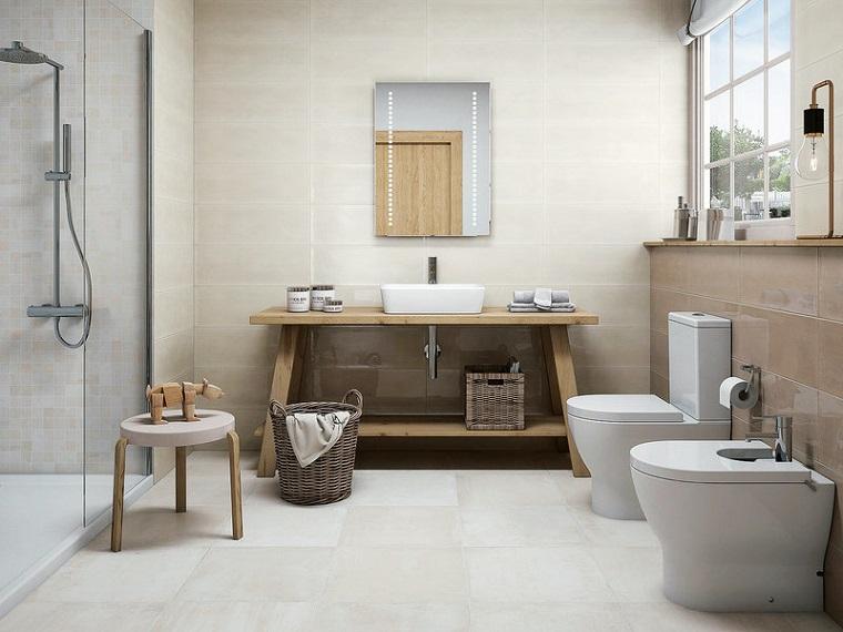 1001 idee per come arredare un bagno consigli for Pared de bano de concreto encerado