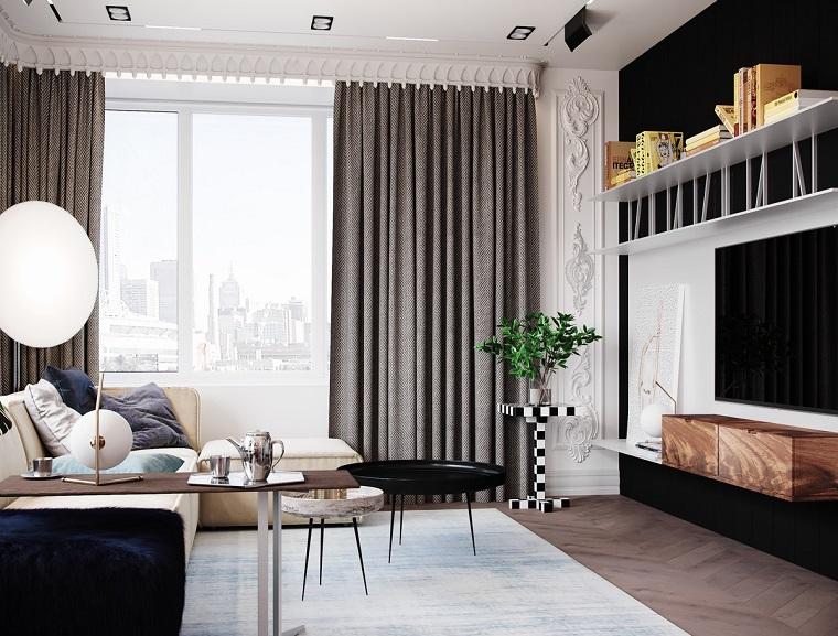 Pareti tv moderne parete tv idee di arredamento dal for Decora la tua casa