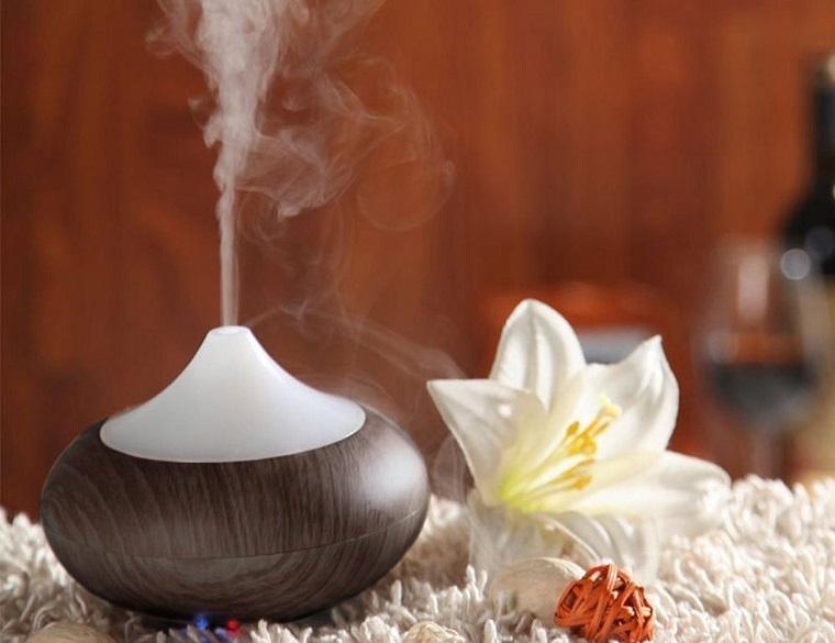 Cura con essenze vegetali, diffusore di aromi zen, petali di colore colore bianco