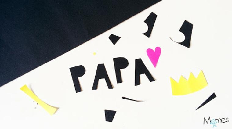 disegni da colorare festa del papù scritta con pennarelli colorati
