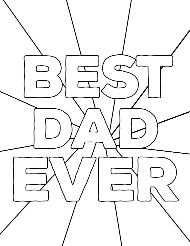 disegni da colorare per la festa del papà pagina da stampare per bambini