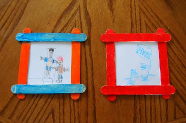 idee per realizzare dei regali festa del papà con dei bastoncini di legno colorati