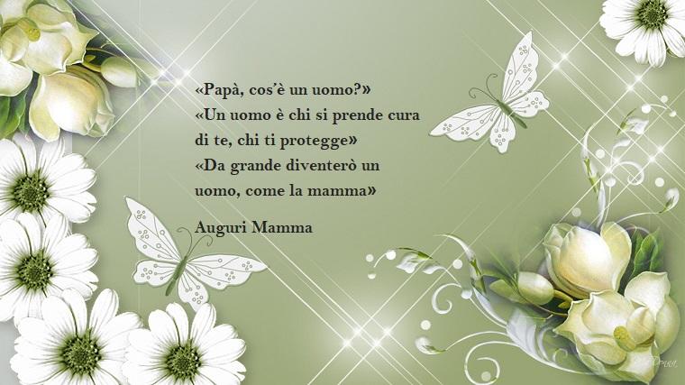 Idea per una dedica per la festa della mamma, fiori bianchi e farfalle