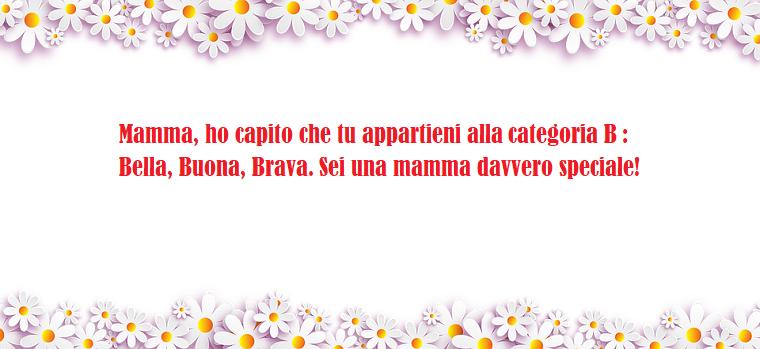 Buona festa della mamma, frase simpatica da mandare, scritta in una cornice di fiori