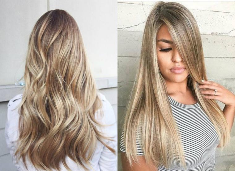Foto capelli lunghi biondo cenere