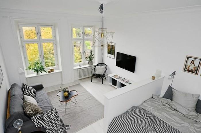 come arredare spazi piccoli facendo largo uso del bianco per pareti e pavimenti