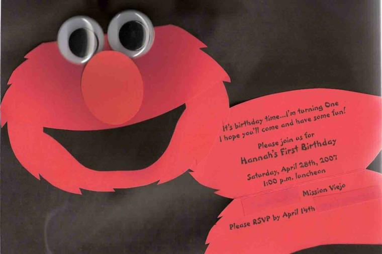 creativa e divertente idea per creare un invito festa compleanno con la faccia di elmo