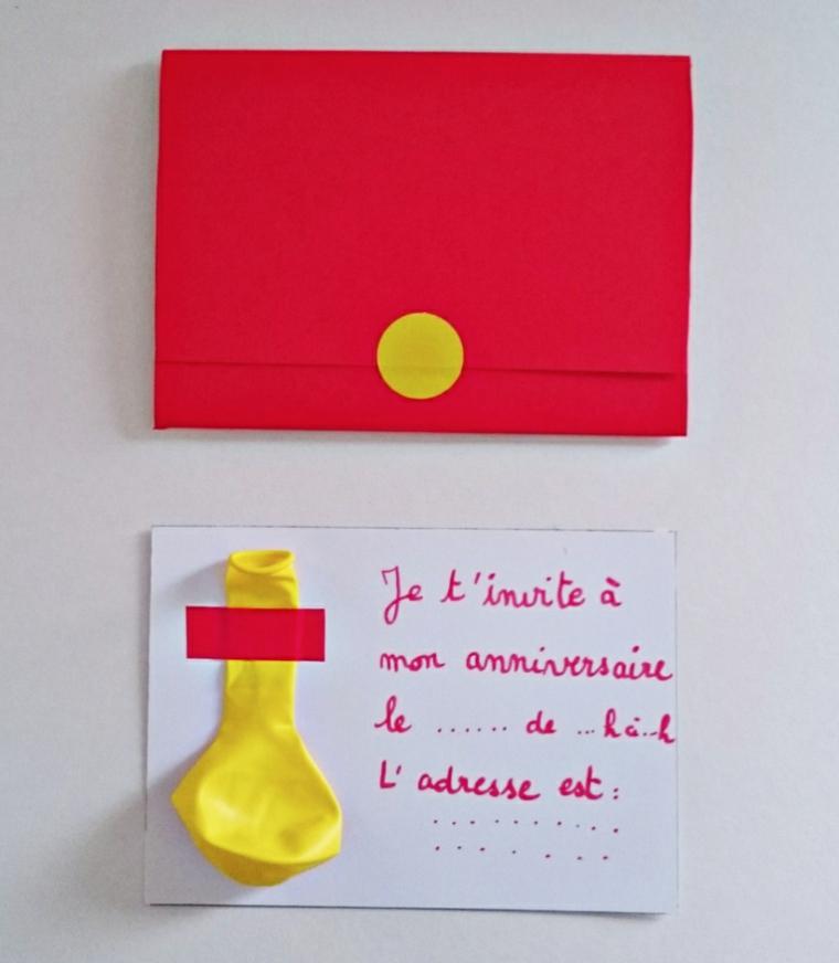 semplice e originale idea fai da te per dei biglietti invito compleanno per bimbi con un palloncino