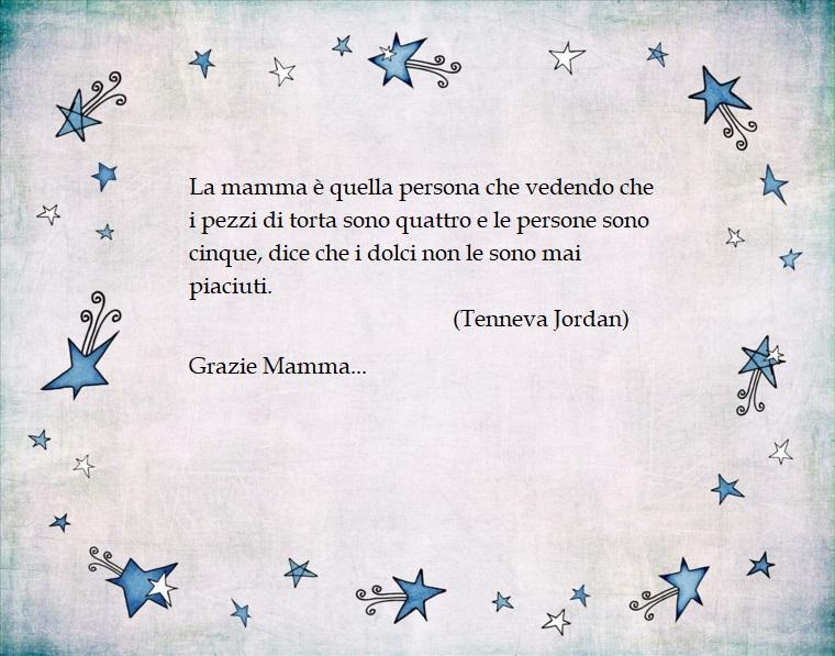 Frasi festa della mamma, dedica di Tnneva Jordan, immagine con sfondo vintage e disegni di stelle