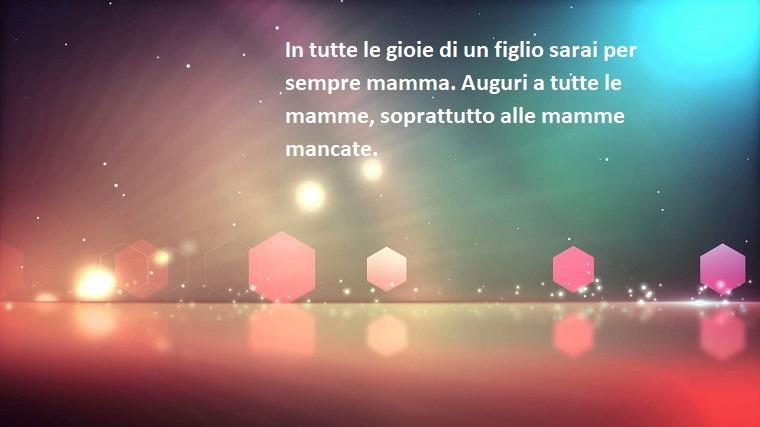 Idea frasi festa della mamma, sfondo colorato con elementi grafici, scritta di colore bianco
