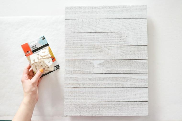 materiale per regali festa del papà fai da te lastre di legno e lettere in bustina