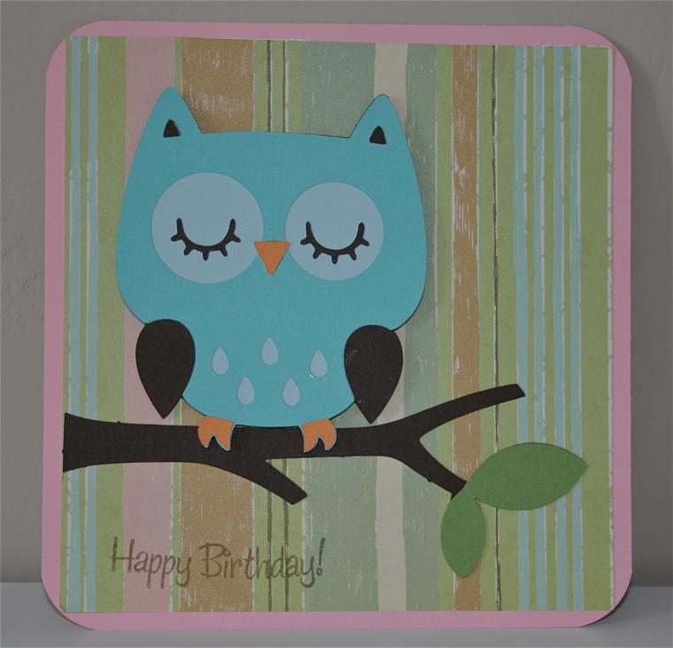 idea colorate e originali per realizzare dei biglietti di invito a feste di compleanno di bimbi con il disegno di un gufo