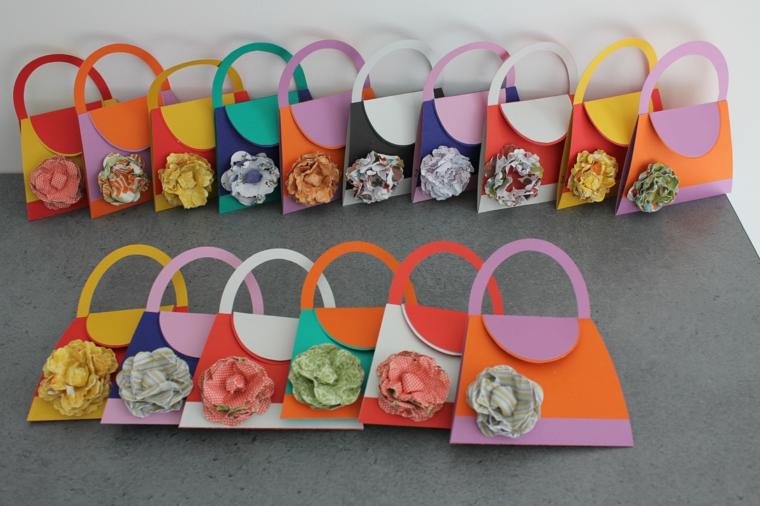 splendida idea per creare degli inviti di compleanno per bambini a forma di borsette