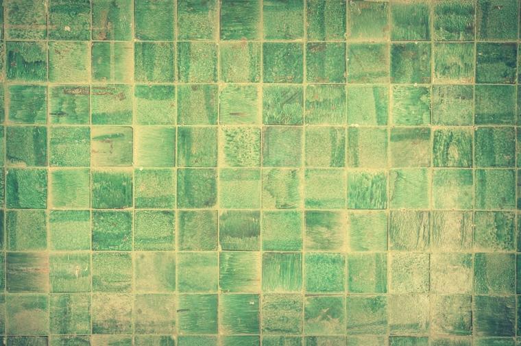 Idea rivestimenti bagni moderni immagini, piastrelle forma quadrata di colore verde con sfumature chiare