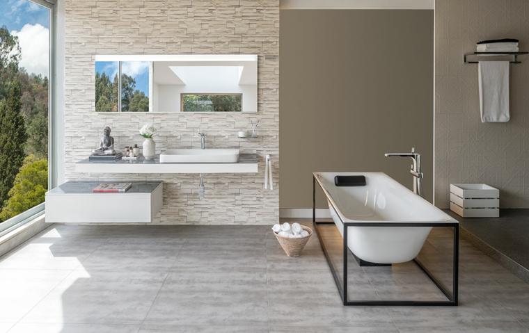 1001 idee per come arredare un bagno consigli - Come rivestire il bagno ...