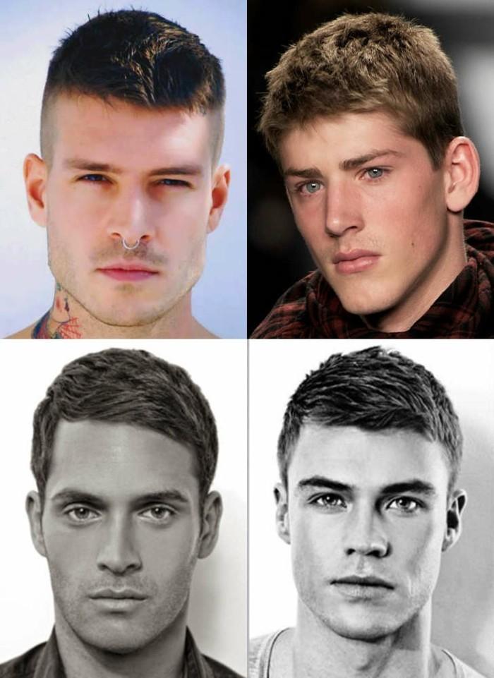 proposte per scegliere i tagli maschili più alla moda con ciuffo corto e lati rasati